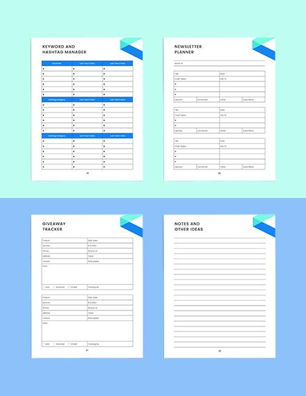 social media marketing Planner Editable