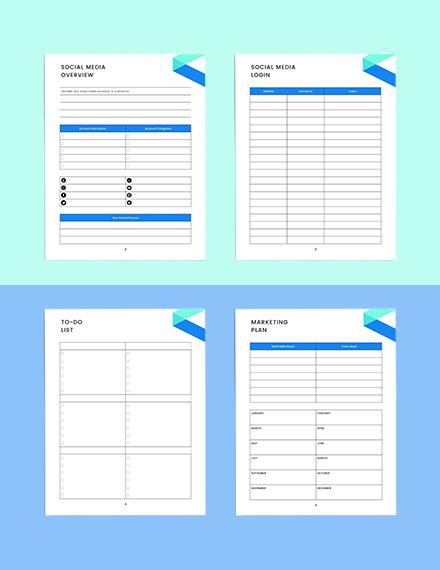 social media marketing Planner Sample