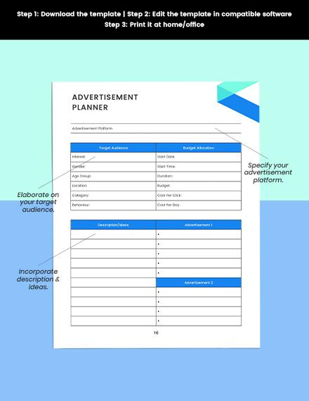 social media marketing Planner