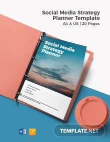 Social Media Strategy Planner Template