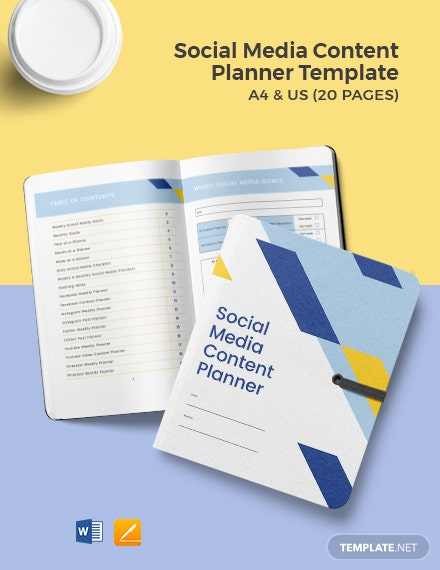 Social Media Content Planner Template