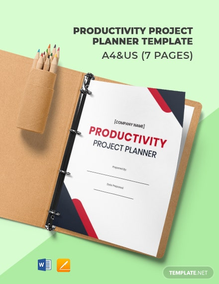 Free Productivity Project Planner Template