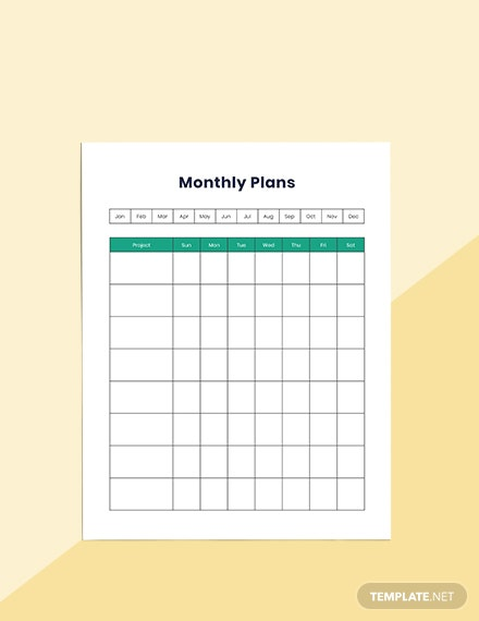 Project Timeline Planner Schedule