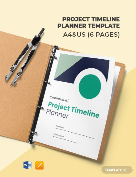 Free Project Timeline Planner Template