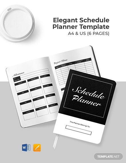 Free Elegant Project Planner Template