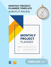 Free Sample Monthly Project Planner Template