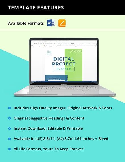 Digital Project Planner Instruction