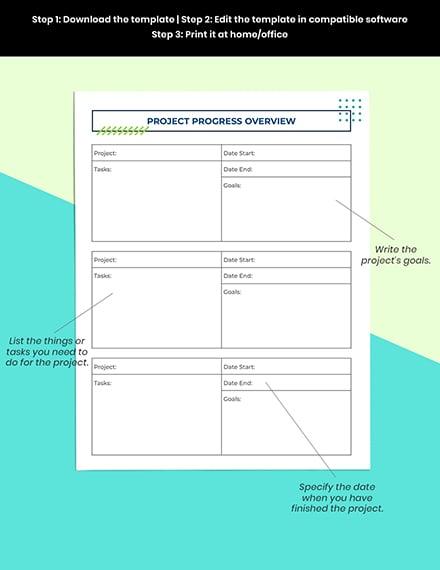Digital Project Planner Printable