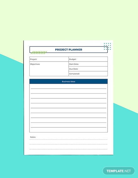 Digital Project Planner Sample