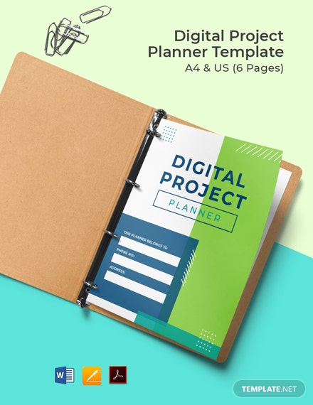 Free Digital Project Planner Template