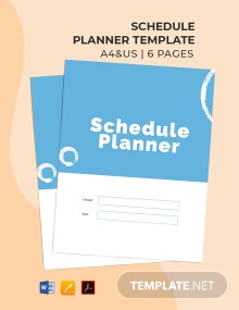Free Basic Schedule Planner Template
