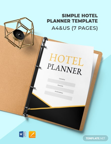 Simple Hotel Planner Template