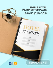 Free Simple Hotel Planner Template