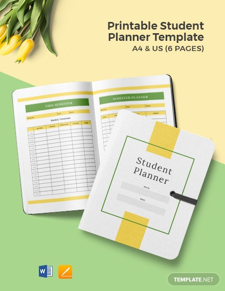 Free Printable Student Planner Template
