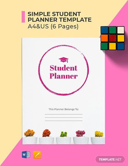 Free Simple Student Planner Template