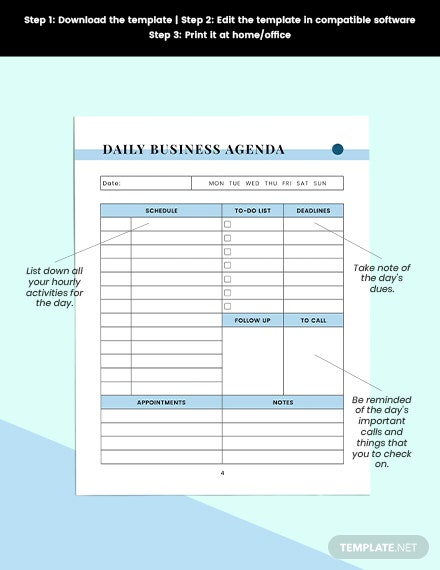 simple work Planner Printable