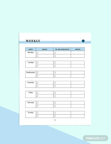 simple work Planner Sample
