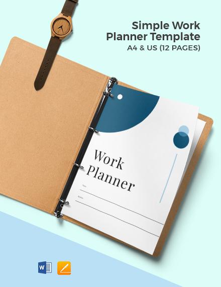 Free Simple Work Planner Template