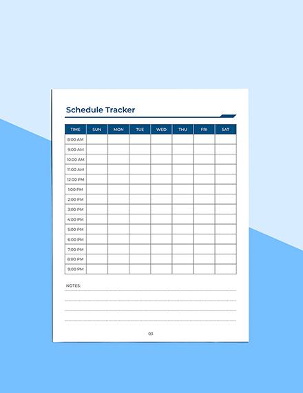 Printable Work Planner Download