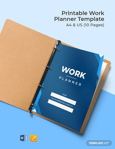 Free Printable Work Planner Template