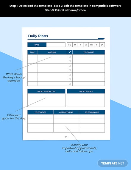 Printable Work Planner Printable