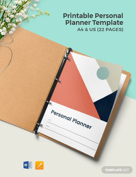 Free Printable Personal Planner Template