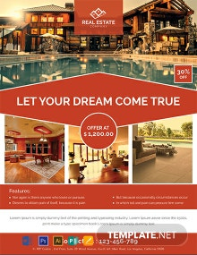 Free Real Estate Red Flyer Template