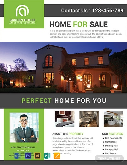 Free Home Sale Real Estate Flyer Template