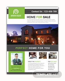 Home Sale Real Estate Flyer Template