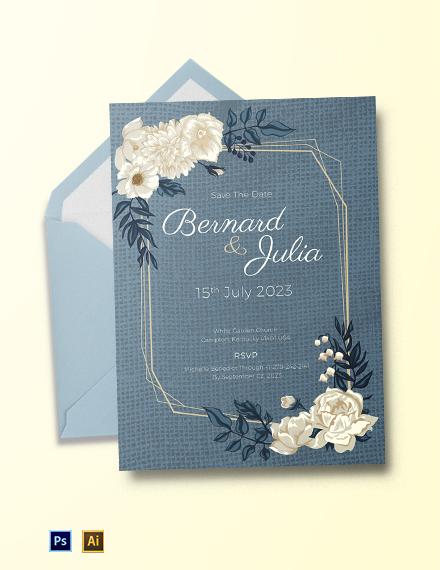 Burlap Fall Wedding Invitation Template