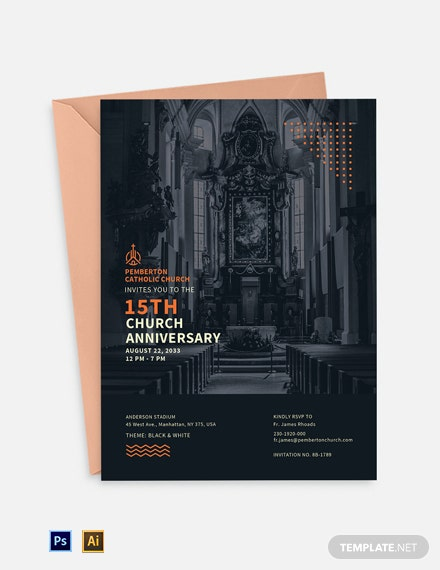 Church Anniversary Celebration Invitation Template