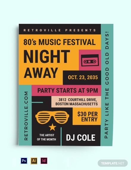 80s Retro Flyer Template