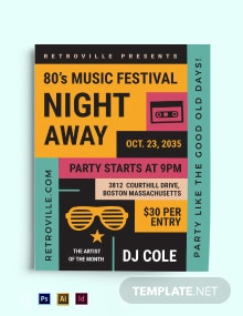 80s Retro Flyer Template
