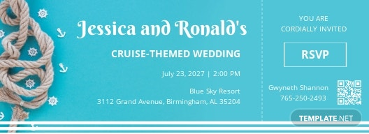 Cruise Fall Wedding Boarding Pass Invitation Template.jpe