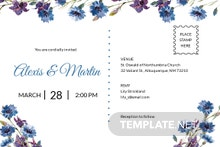 Free Elegant Fall Wedding Invitation Postcard Template