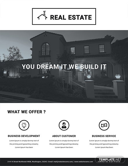 Printable Real Estate Flyer Template