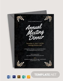 Formal Meeting Dinner Invitation Template