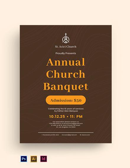 Church Banquet Flyer Template