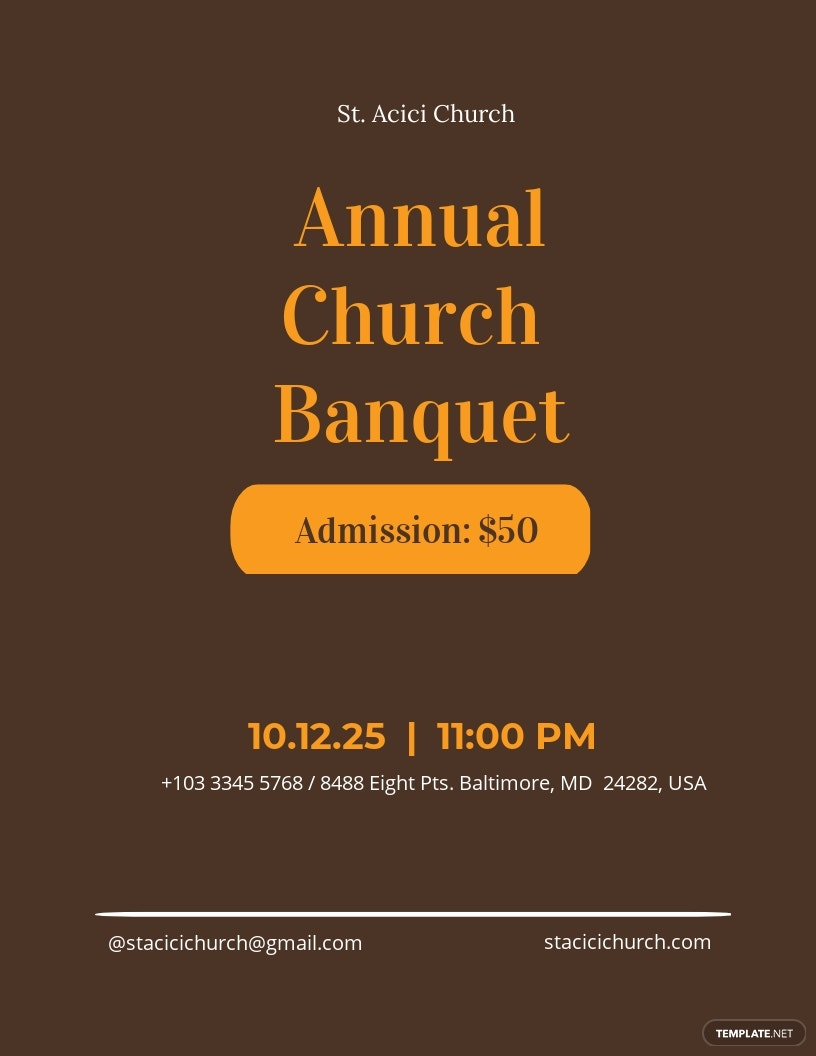Church Banquet Flyer Template
