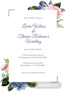 Pocket Fall Wedding Invitation Template