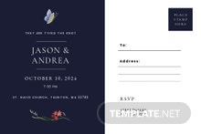 Postcard Fall Wedding Invitation Template