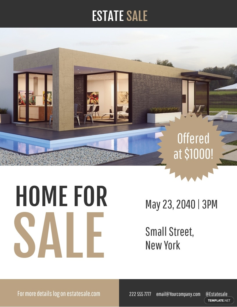 Real Estate Template Flyer