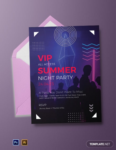 VIP Party Invitation Template