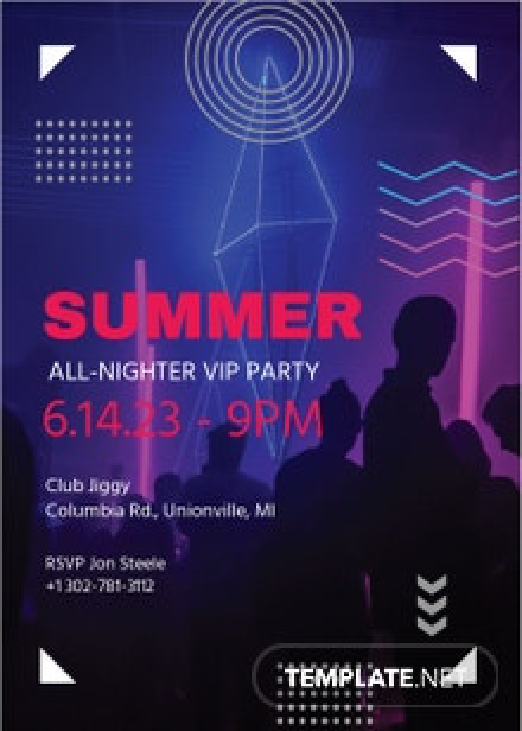 VIP Party Invitation Template