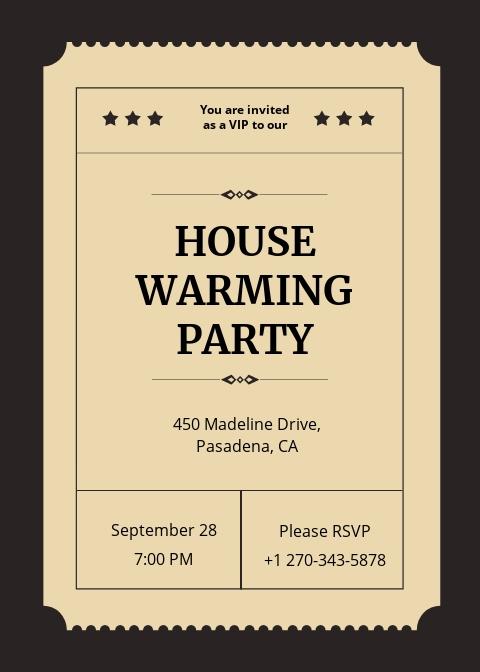 VIP Ticket Invitation Template