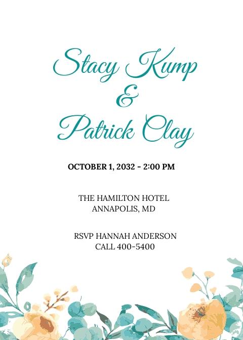 Wedding Ceremony Invitation Card Template.jpe