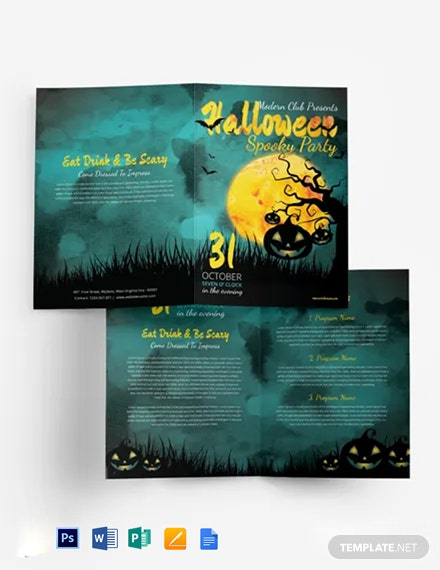 Halloween Bi-Fold Brochure Template