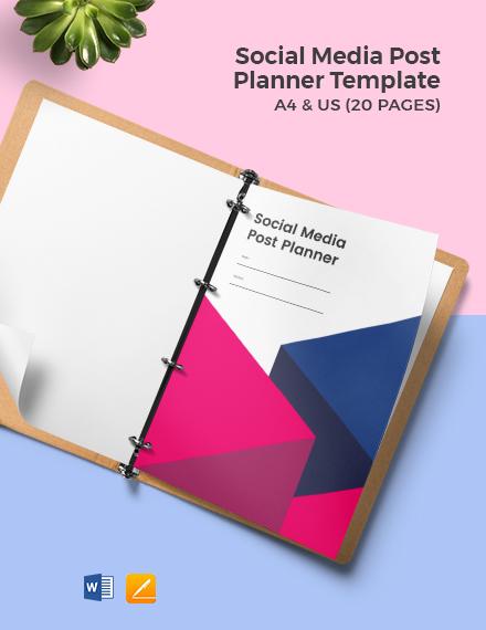 Social Media Post Planner Template