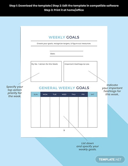 Printable strategic social media Planner