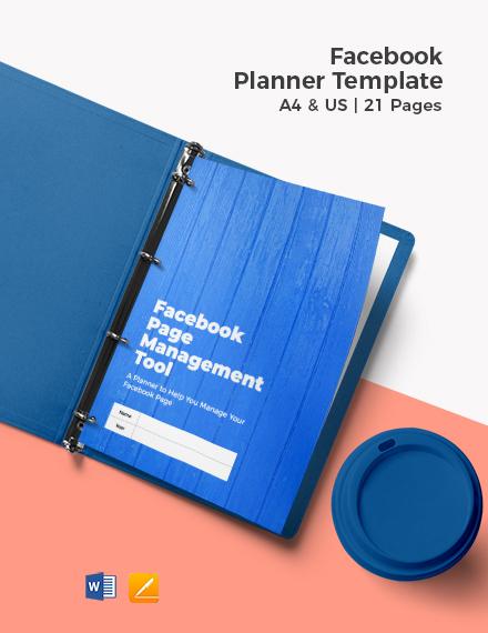 Facebook Planner Template